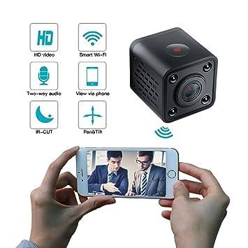 Mini Cámara Espía, WiFi Inalámbrico Cámaras Ocultas De Visión Nocturna 1080P HD Niñera Cámara De