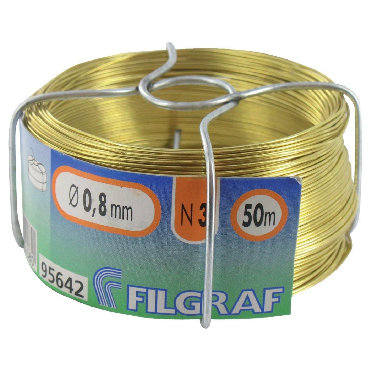 Alambre para fijar filgraf? Lató n? 50 m? ø 0.8 mm 311571 Générique GRAFOTT03
