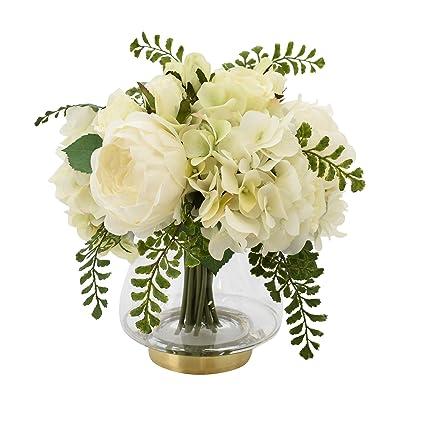 amazon com creative displays cdfl5418 artificial floral arrangement rh amazon com white and green floral centerpieces green floral centerpieces wedding