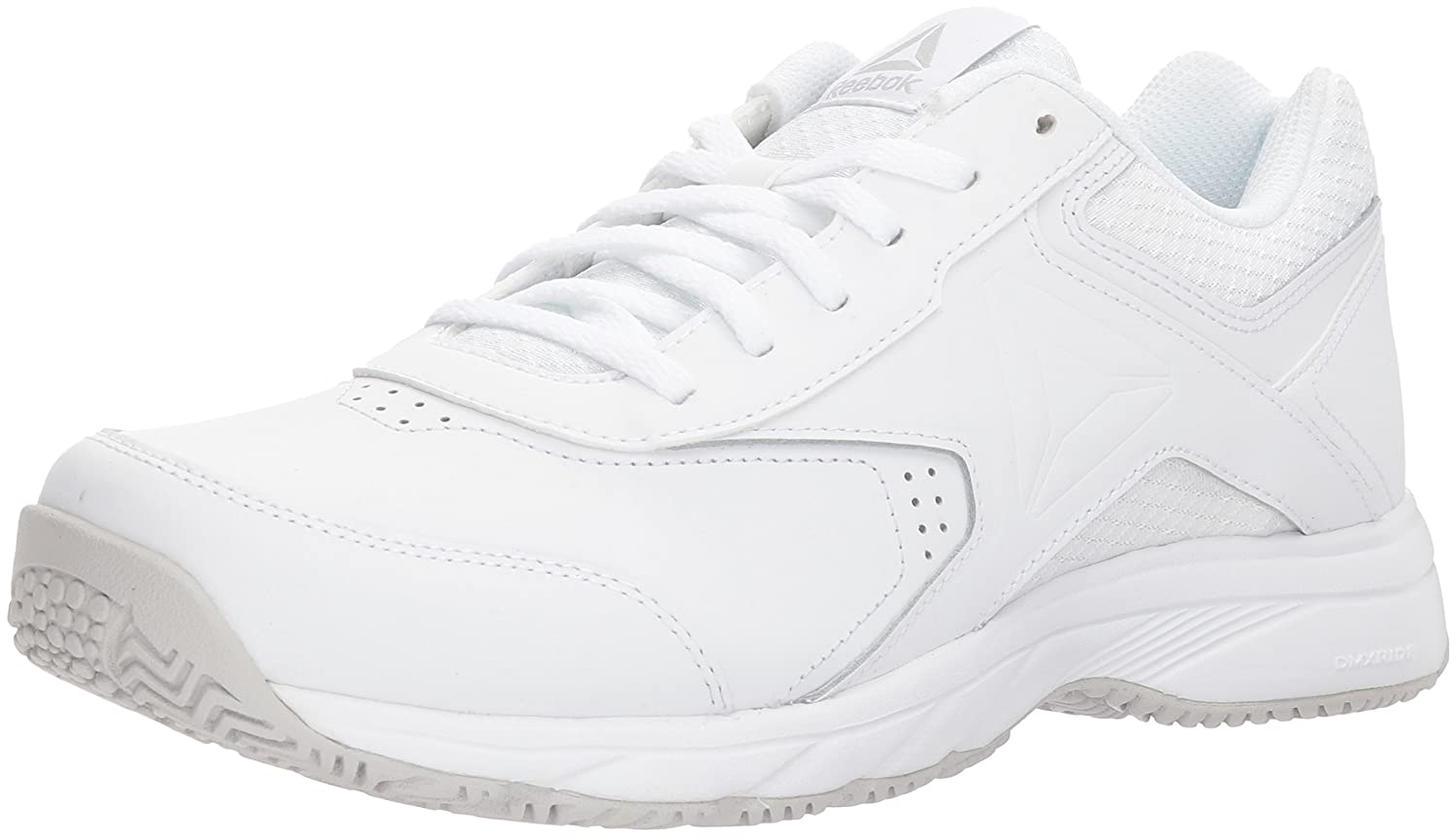 Reebok Women's Work N Cushion 3.0 Wide D Sneaker B071LTHF7B 8 B(M) US|White/Steel - Wide D