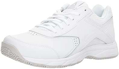 5b46b42ef4989 Reebok Women s Work N Cushion 3.0 Wide D Walking Shoe White Steel 9 ...