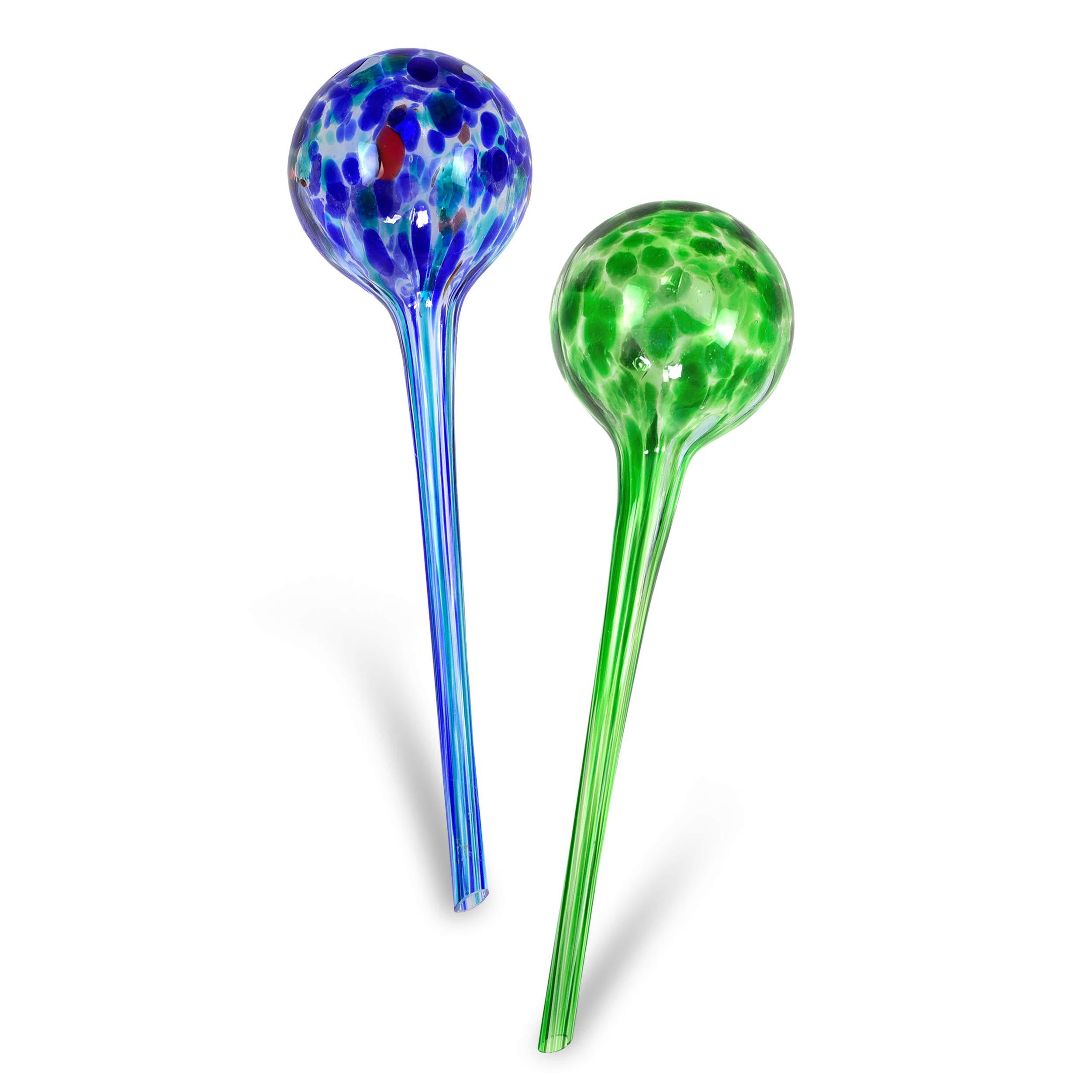 2PC Plant Waterer Self Watering Globes Bird Shape Hand Blown Mini Durable Glass