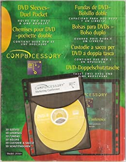 Compucessory DVD Sleeves - Duel Pocket (20-Count, Black ...