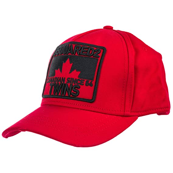 c0dc39a135b23 Dsquared2 Men Twins Baseball Cap Rosso  Amazon.co.uk  Clothing