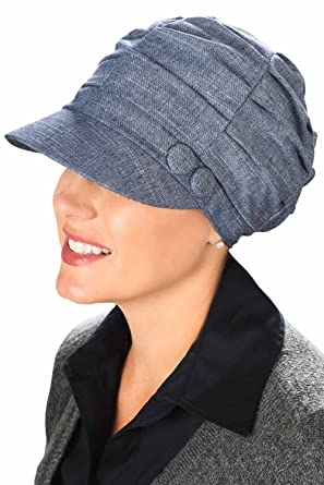 Headcovers Unlimited Pleated Newsboy Hat-Caps for Women with Chemo Cancer  Hair Loss Pleated Newsboy 52cd7bb3790