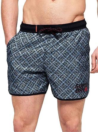 Superdry Echo Racer Swim Short Pantalones Cortos para Hombre