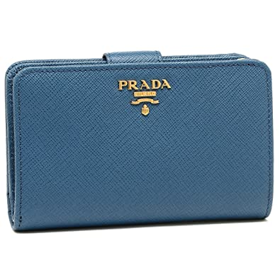 e6dc187100dc Amazon | [プラダ] 折財布 レディース PRADA 1ML225 QWA F0215 ブルー ...