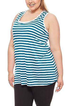 online hier heiß-verkaufender Beamter heiß-verkauf freiheit Sheego Shirt Damen Top Große Größen Tank-Top Weiß Streifen ...