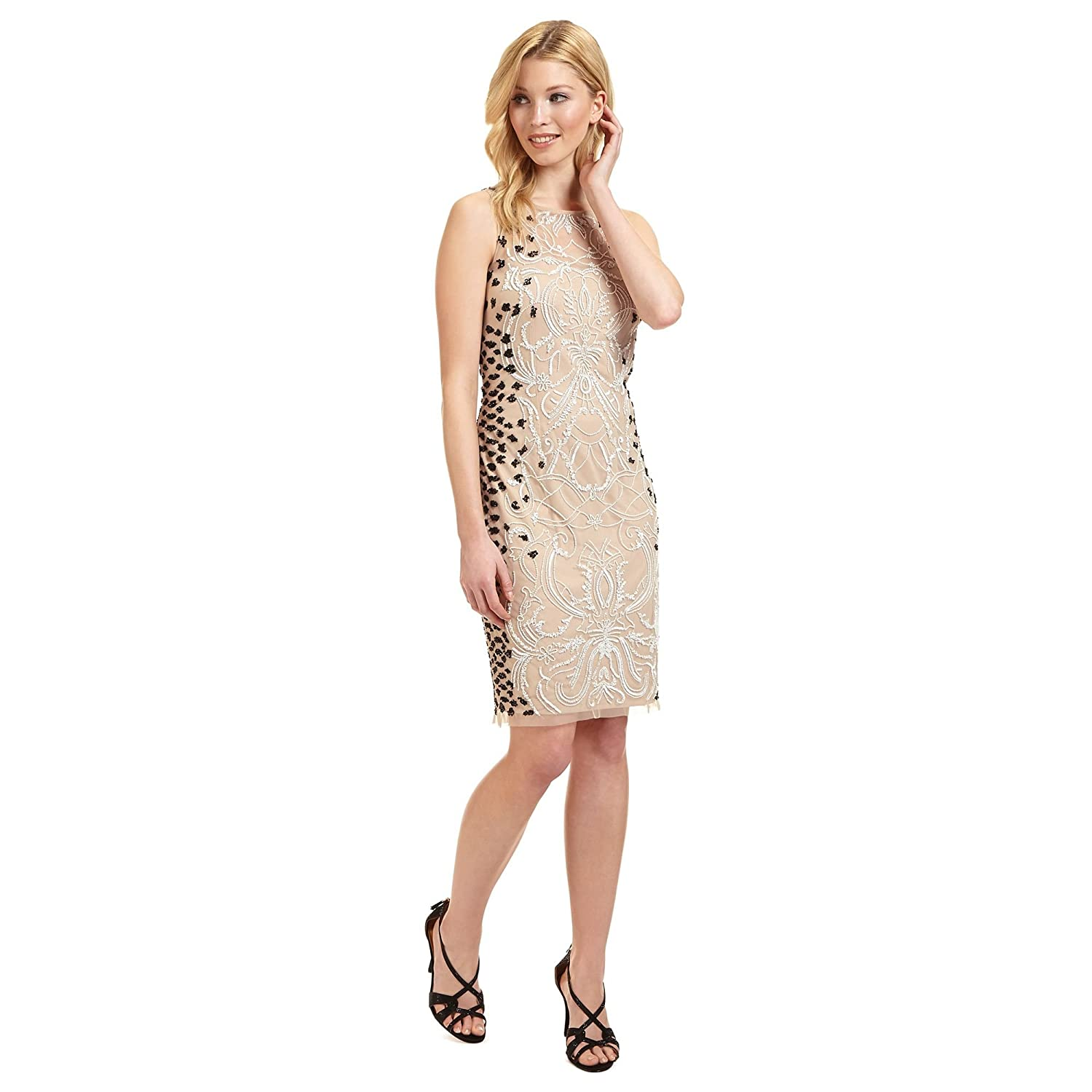 Ariella London Womens Nude 'Dionne' Beaded Dress