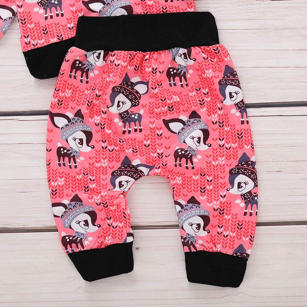 Baby Clothes Girls,Long Sleeve Cartoon Fox Print Casual Pajamas Outfits Clothes for Baby Girls by kaiCran