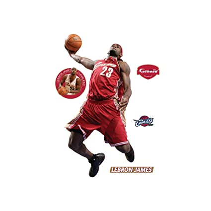 97599f797333 Amazon.com   Fathead NBA Cleveland Cavaliers LeBron James Throwback - Slam  Dunk   Sports Fan Wall Banners   Sports   Outdoors