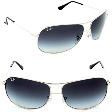 d36b0193ff Ray-Ban RB 3267-003 8G Silver HIGHSTREET AVIATOR Sunglasses With Grey