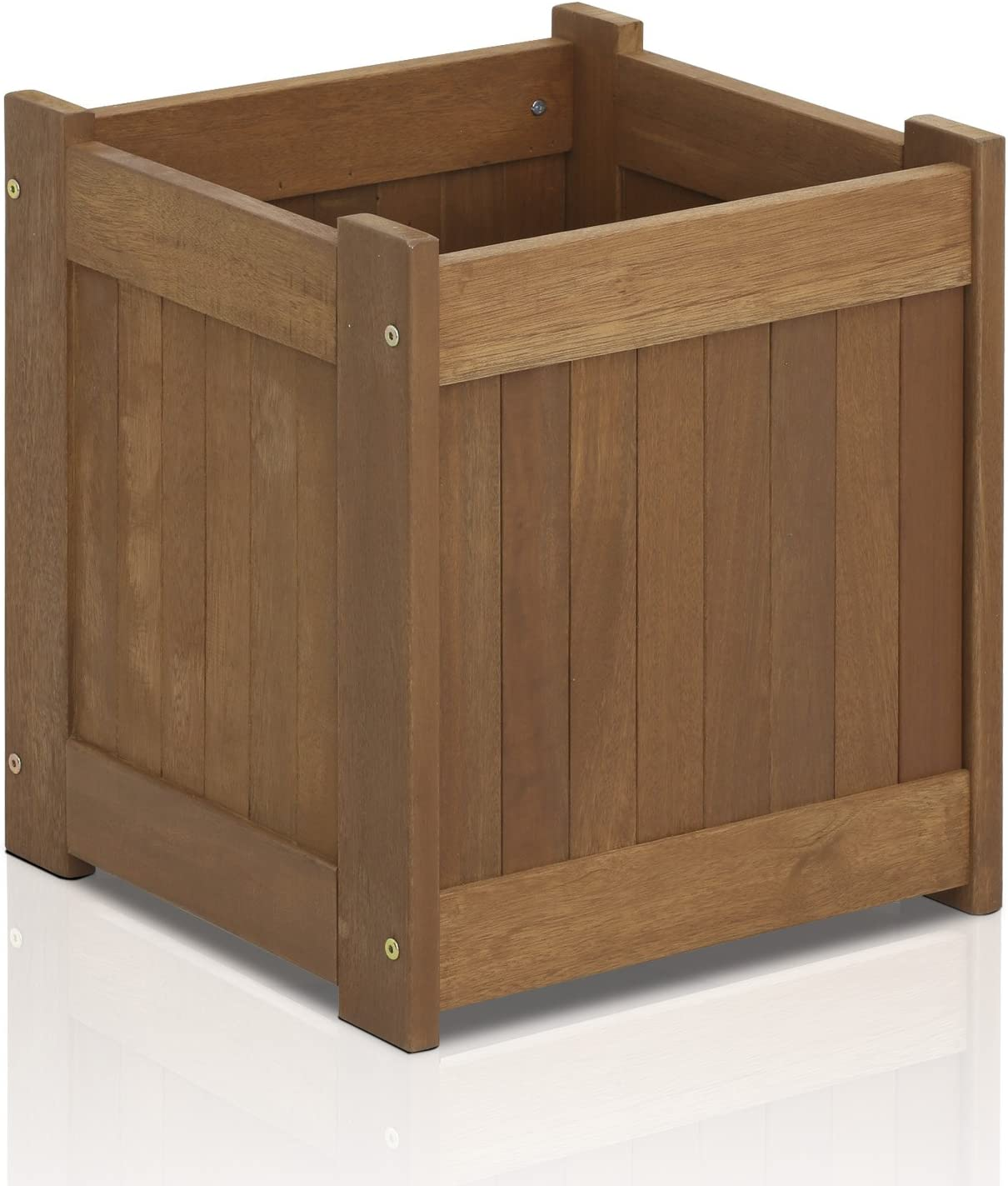 Furinno FG16450 Tioman Hardwood Flower Box, One-Pack, Natural