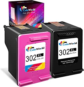 ColoWorld 302XL Remanufacturado Cartuchos de Tinta 302 XL Negro y Tricolor Compatible con HP OfficeJet 3830 4650 5220 5230 DeskJet 1110 2130 3630 Envy 4520 Impresoras, Pack de 2: Amazon.es: Electrónica