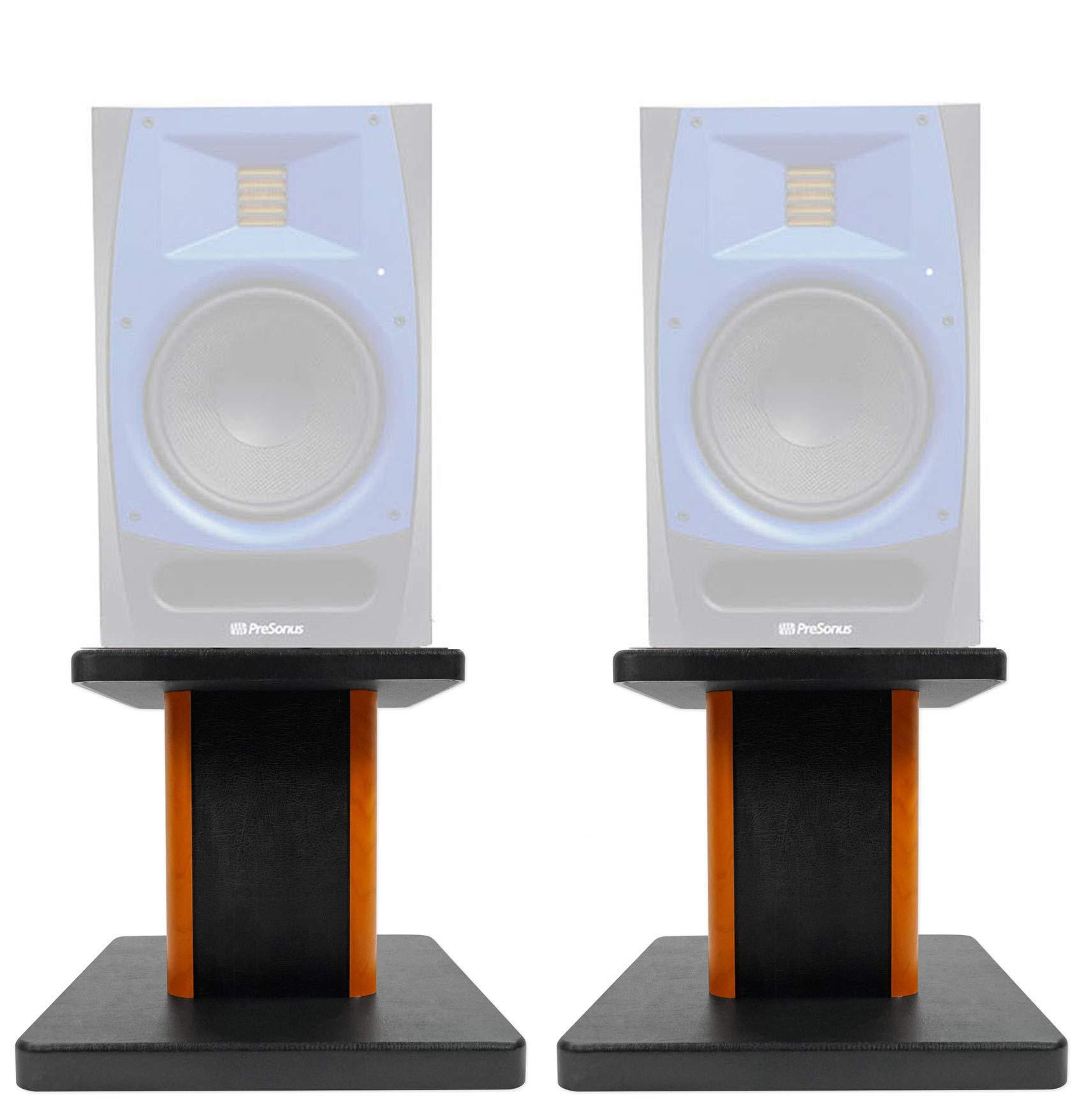 ROCKVILLE 8'' Wood Studio Monitor Speaker Stands for Presonus R80 Monitors by ROCKVILLE