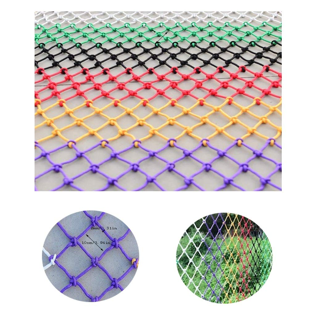 Indoor Colors Net Decor Large Safety Net Child Protective Net Cat Net Cargo Protection Net Kindergarten Decoration Net Mesh 100x100mm 8mm Rope Multiple Sizes (Size : 4x2m)