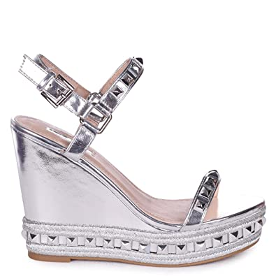 Linzi Damen Sandalen Silber Zinnfarben, Silber - Zinnfarben - Größe: 36.5