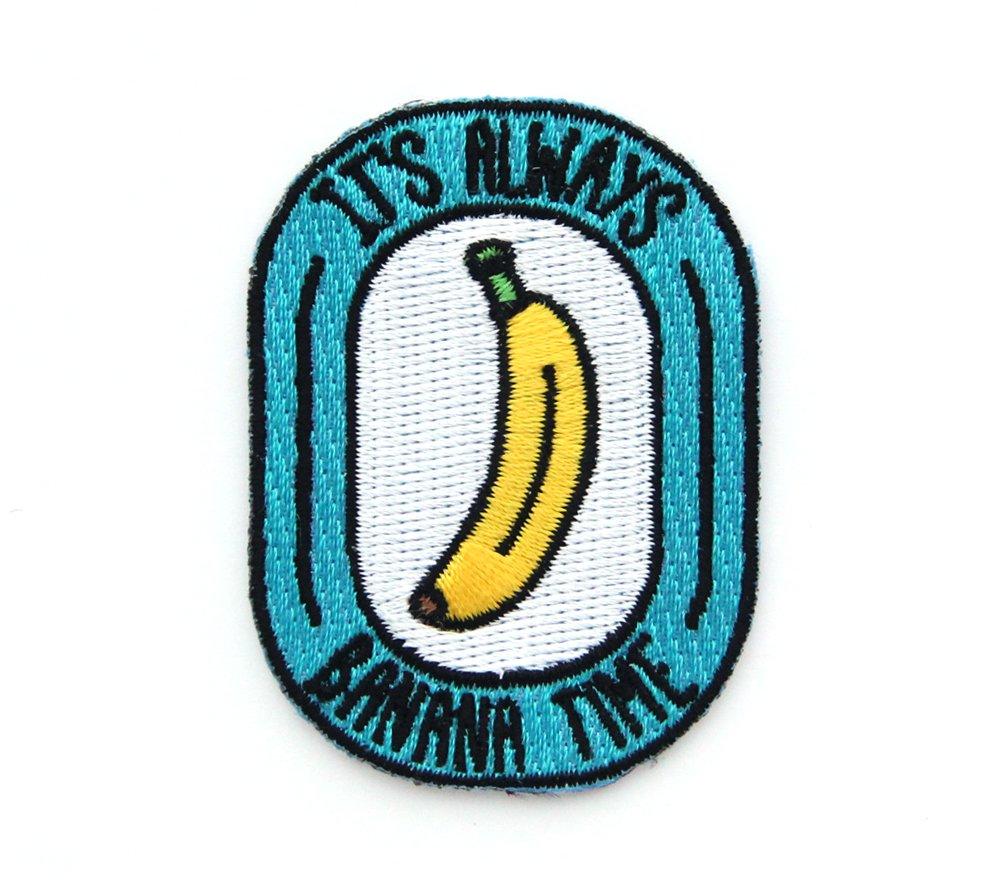 Banana Time Embroidered Sew or Iron-on Backing Patch Mokuyobi 4337018180