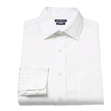 a2af22d365e Croft   Barrow Men s Classic-Fit Solid Spread-Collar Dress Shirt White  (Medium