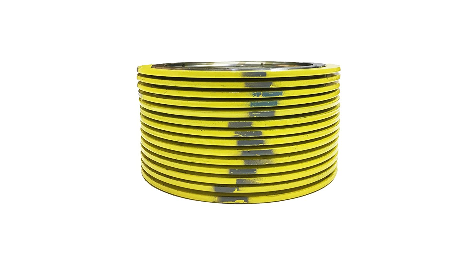 Sterling Seal 9000IR3304GR2500X12 304 Stainless Steel Spiral Wound Gasket with 304SS Inner Ring and Flexible Graphite Filler of NJ for 3 Pipe Supplied by Sur-Seal Inc Yellow with Grey Stripe Pack of 12 Pressure Class 2500# for 3 Pipe