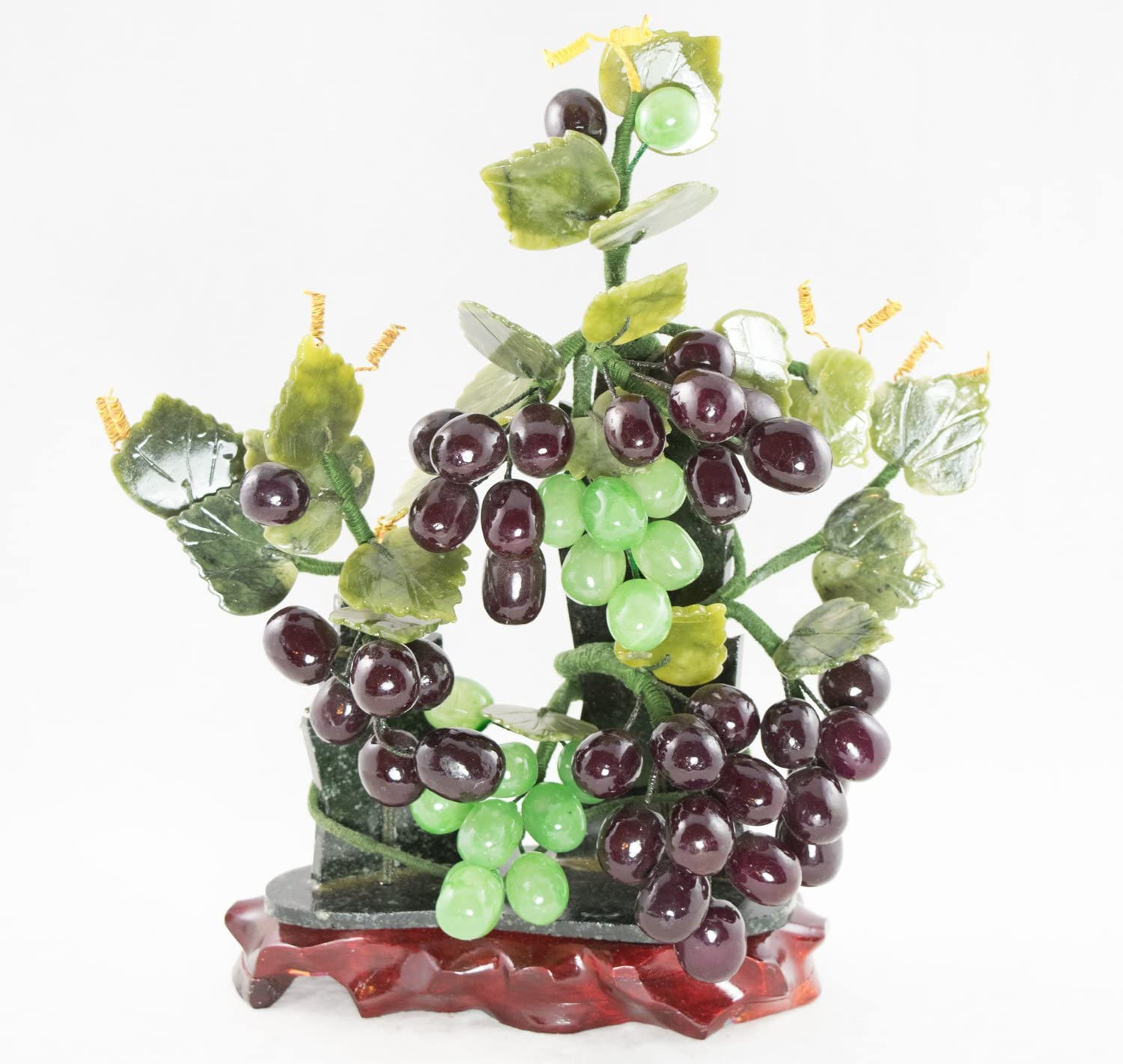 Amazon Com Vintage Chinese Carved Semi Precious Stone Grapes Bonsai Tree 2016 Garden Outdoor