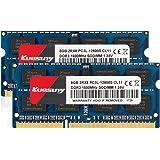 Kuesuny 16GB KIT (2X8GB) DDR3/DDR3L 1600MHz Sodimm Ram PC3/PC3L-12800S PC3/PC3L-12800 1.5V/1.35V CL11 204 Pin 2RX8 Dual Rank