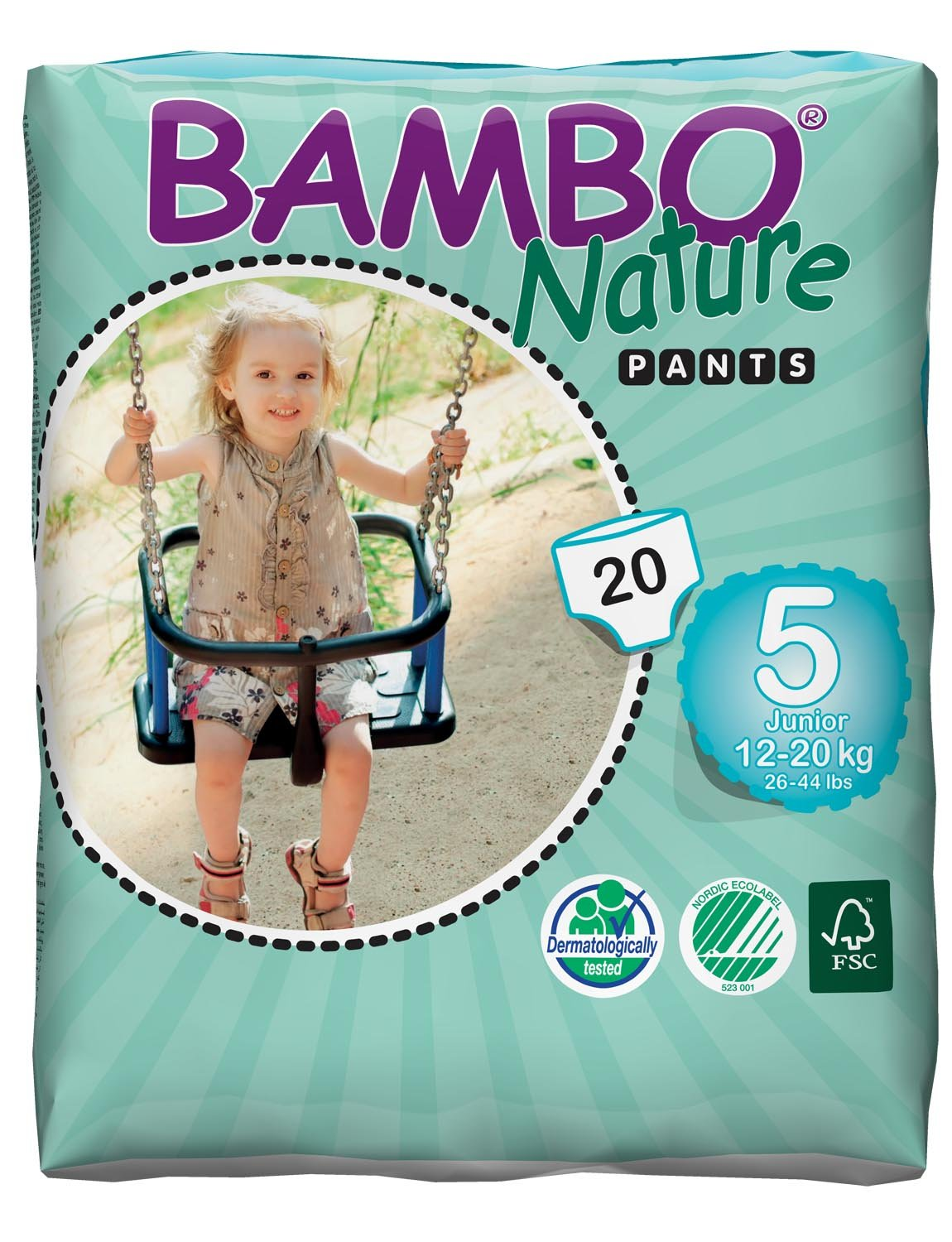 Bambo Nature Junior Training Pants - Size 5 (12-20 kg, 26-44 lb) - 3 Packs of 20 Abena