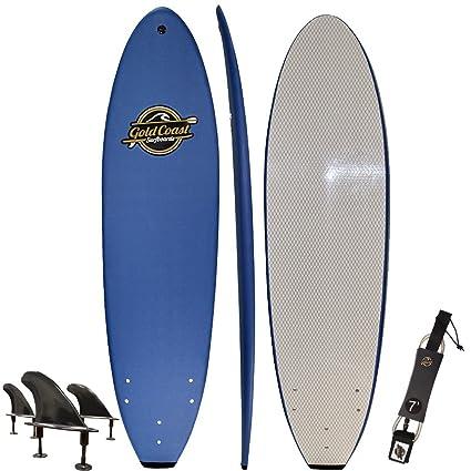 amazon com gold coast surfboards soft top surfboard 7 ruccus