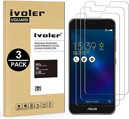 ivoler [3 Unidades] Protector de Pantalla para ASUS Zenfone 3 MAX ...