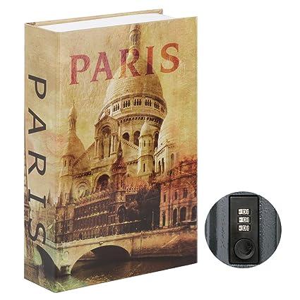 Jssmst Diversion Book Safe with Combination Lock, Secrect Hidden Safe Lock  Box Large 2018, SMBS019P