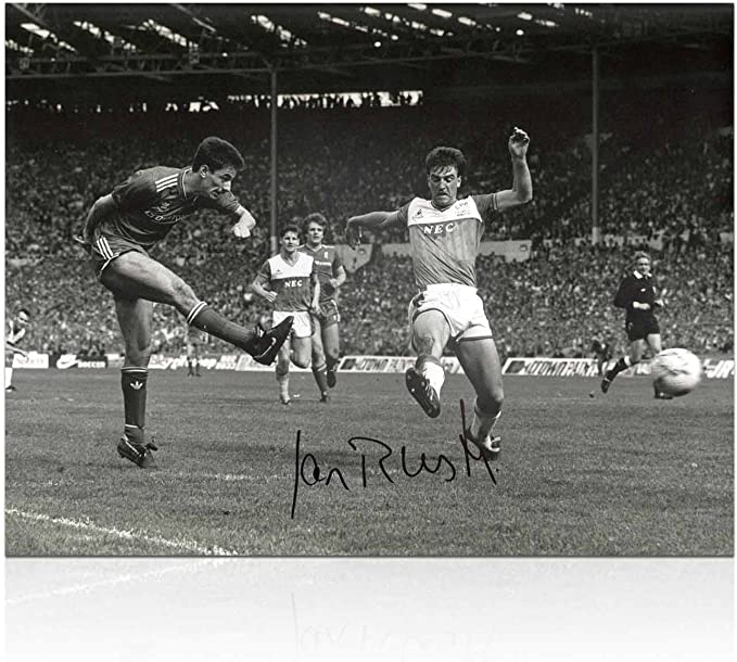 Ian Rush firmado Liverpool Foto: Propósito de la FA Cup ante el ...