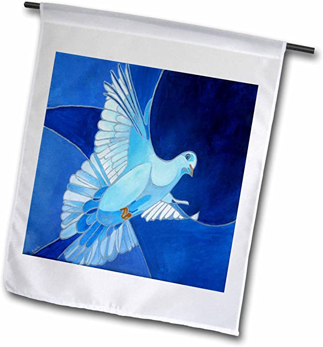 3dRose fl_128459_1 Dove The Peace Dove is a Common Christian Symbol of The Holy Spirit Garden Flag, 12 by 18-Inch