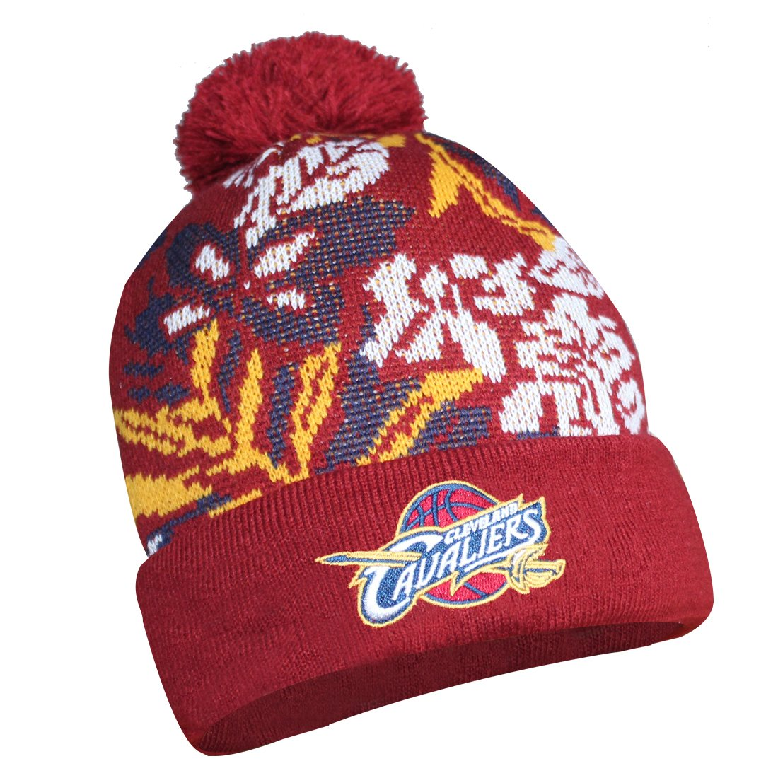 Amazon.com  Sports Shack CLE Cavaliers  Adult Winter Hat (One Size)  Multicolor  Sports   Outdoors cbccd02e002