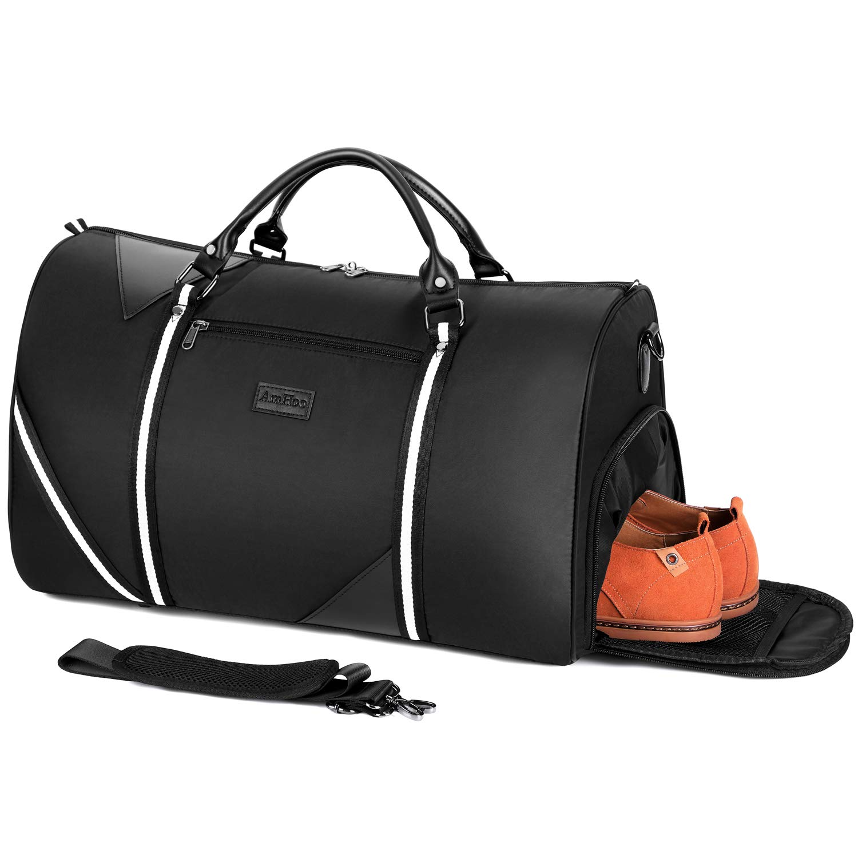 681d47c3806 Amazon.com | AmHoo Large Travel Weekender Bag Waterproof Nylon Duffle Bag  Gym Handle For Men And Women.(Black) | Travel Duffels