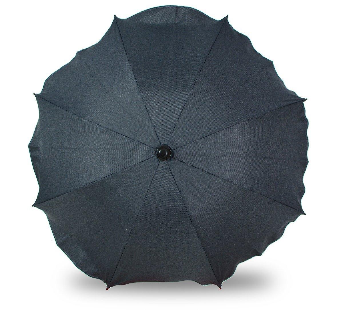 Universal sombrilla paraguas para carrito y Sport Buggy, pantalla para cochecito de bebé con soporte universal, UV schutz50+ toldo Protección Solar blanco Weiß Skyline