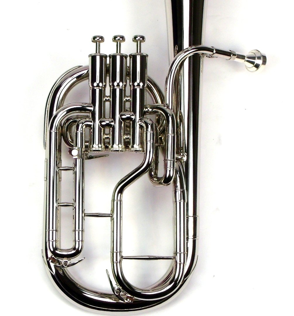 Intermediate Monel Pistons Alto Horn w/Case & Mouthpiece-Nickel Plated Finish by Moz (Image #7)