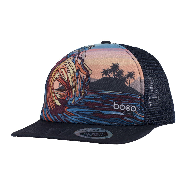 0f5b983fd BOCO Gear Foam Technical Trucker Hat - Sunset Wave: Amazon.ca ...