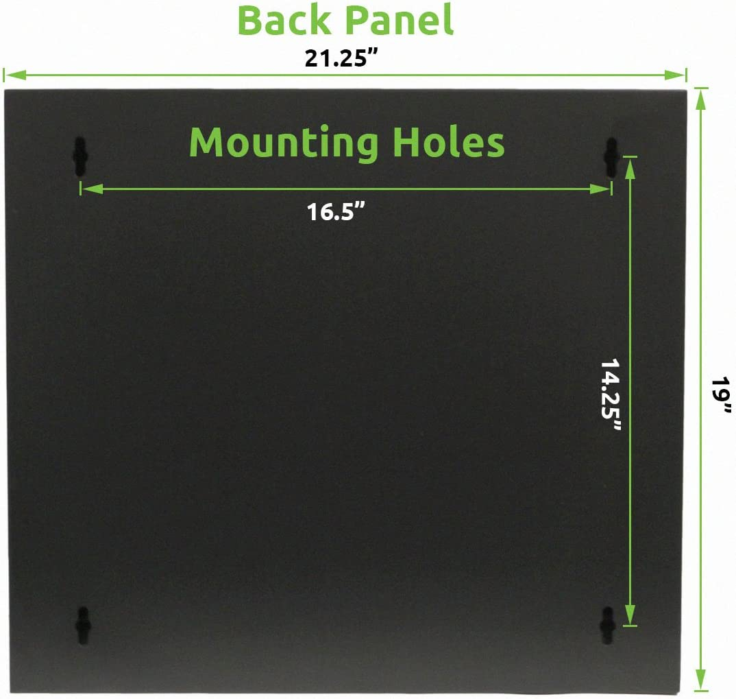 NavePoint 9U Basic IT Wall Mount Network Server Data Cabinet ...