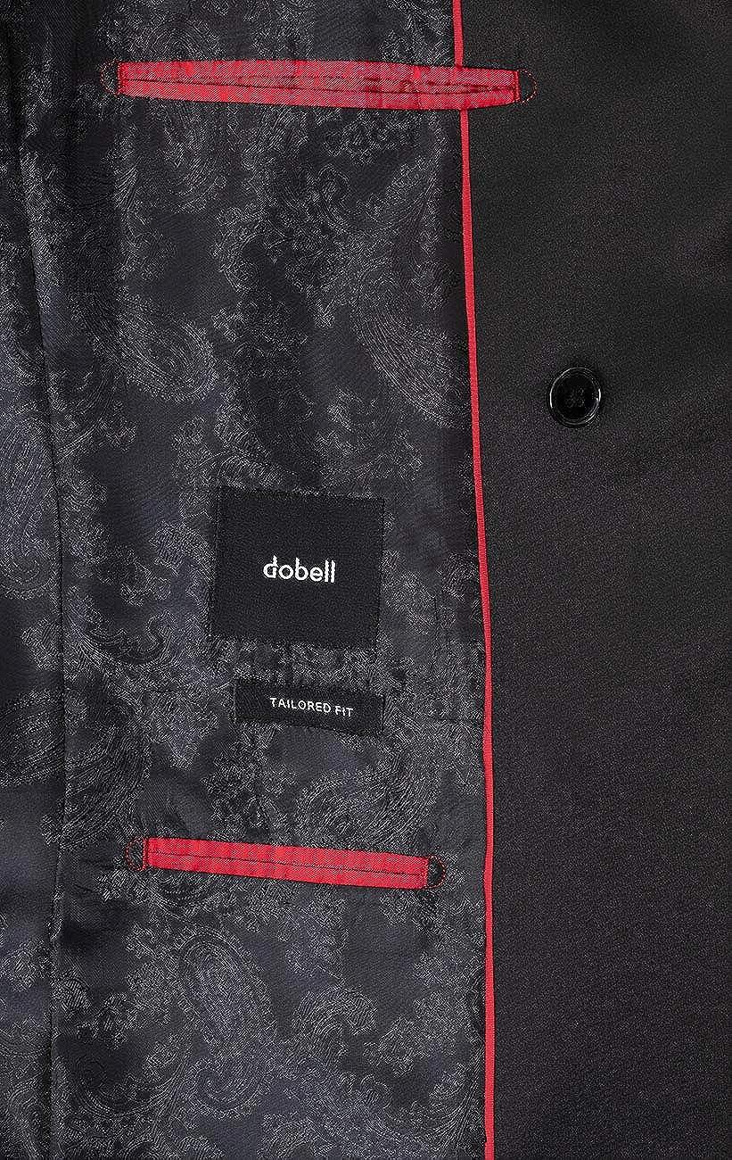 Dobell Mens Black Tuxedo Jacket Regular Fit Peak Lapel Double Breasted