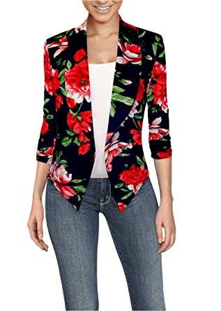 a87109d3afc HyBrid & Company Womens Casual Work Office Open Front Blazer Jacket ...