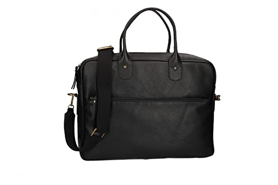 Malette made in italy sacoche bureau professionnel noir cuir vh