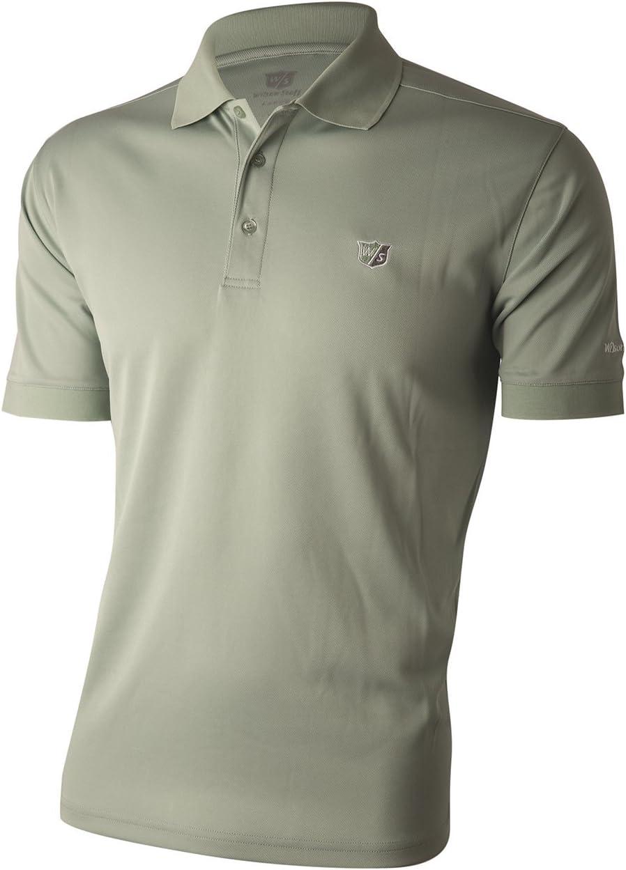 Wilson Staff Mens Authentic de Polo Camiseta Silt Grey Talla S/M ...