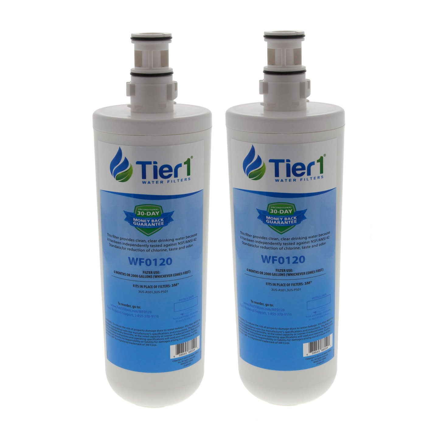 Tier1 Replacement for Filtrete 3US-AF01 Standard Water Filter 2 Pack
