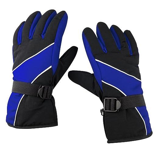 3 opinioni per TRIXES Guanti da neve neri e blu caldi, da esterno per il freddo e gli sport