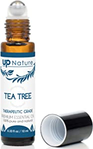 Tea Tree Essential Oil Roll-On - Melaleuca Oil - Anti-Inflammatory, Clear Skin - Easy Application TeaTree Oils Topical Roller - High Quality, Leak-Proof Rollerball - Travel Safe - No Diffuser Needed!