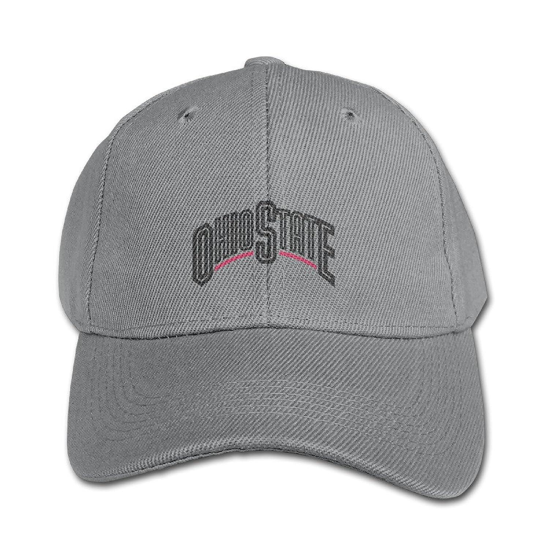 KIDDOS Youth Ohio State University Columbus Baseball Cap Hip Hop Flat Hat - Adjustable Hat Ash