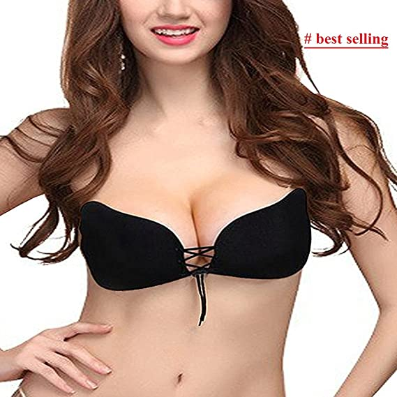 846d7bf7c7 Silicone Gel Invisible Bra Self-adhesive Stick On Push Up Strapless Women  Bra(Latest Bollywood collection on this wedding season)  Amazon.in   Clothing   ...