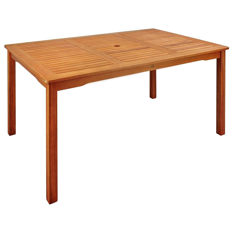 Indoba Montana-rechteckig-Serie Montana-IND-70018-TI Gartentisch, braun, 135 x 85 x 74 cm