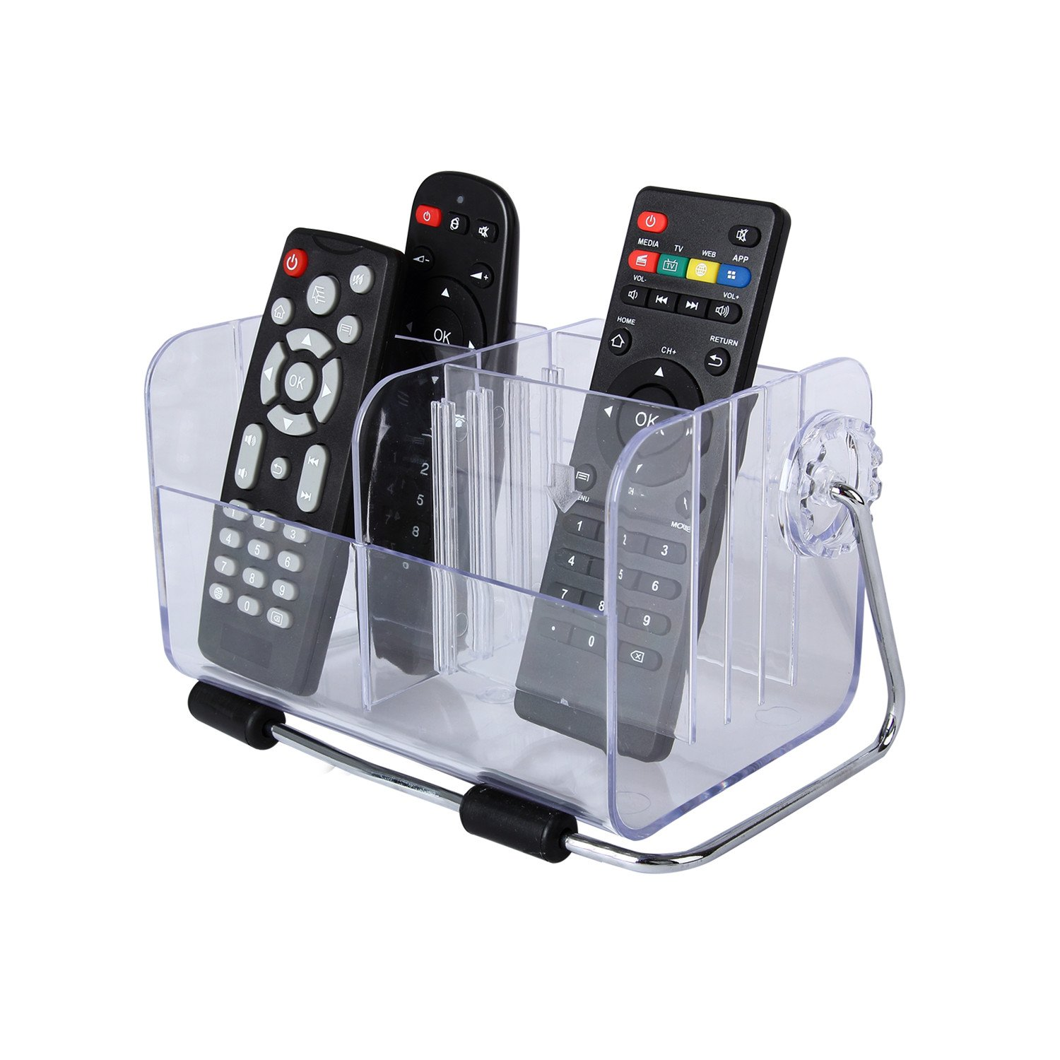 Acecharming Clear Desktop Remote Control Holder/Organizer Media Storage - Holds up to 6 Remotes