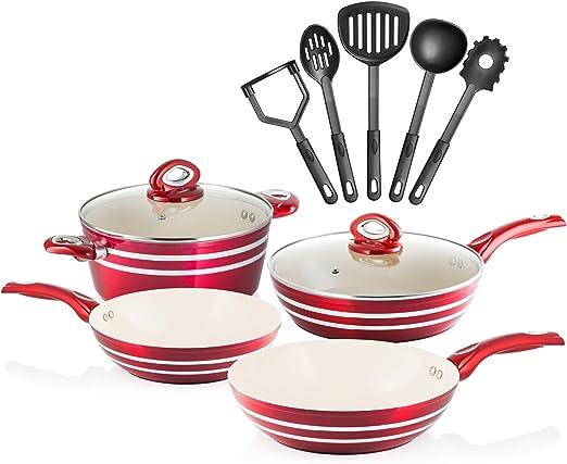 Amazon.com: Chefs Star - Juego de ollas y sartenes ...